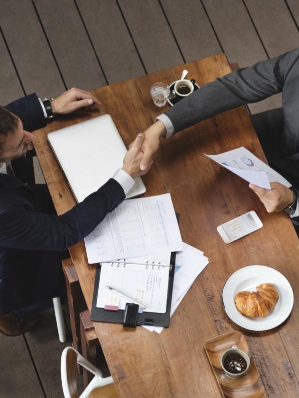 Corporate Business Men Handshake Meeting Concept
